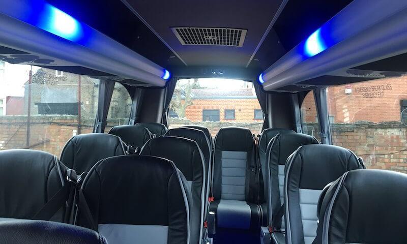 mood lighting in minibus